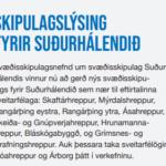 Skiplagslýsing fyrir Suðurhálendið
